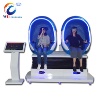 (WD-9D ) virtual reality 9d egg /vr 9d cinema motion chair/ gyro ride 6dof motion platform