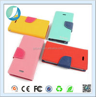 Fancy Color Flip Leather Wallet Card Case for iPhone 6