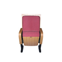 Flame-retardant fabric , floor mounted with writting table cinema chair auditorium chair cheap