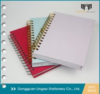 Wholesale Coated Paper cover Journal A5 Double Wire-O ring spiral bound notebook with Custom Hot-Stamp Logo printing