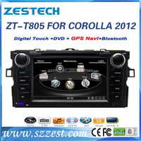 ZESTECH Car Radio DVD for Toyota 2012 Corolla 2 Din Car Radio DVD GPS Navigation System China Factory OEM
