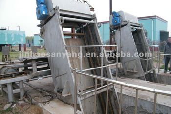 trash rake bar screen for sewage treatment