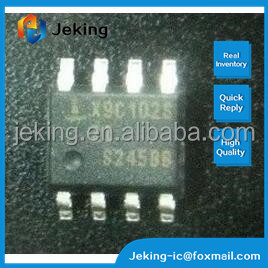 Digital Potentiometer 1k Ohm 1 Circuit 100 Taps Up/Down (U/D, CS) Interface 8-SOIC X9C102SZ