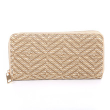 Straw material simple style minimalist cute girls wallet christmas handbags and purses