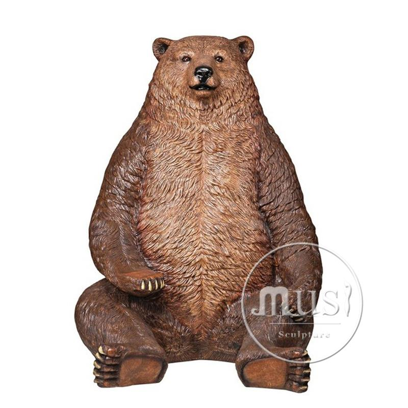 Bronze Casting Foundry Metal Craft Brass Bear Statue / Brass Handicrafts