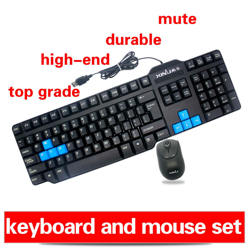 usb keyboard mini mouse usb 2.4ghz wireless optical mouse For PC/ Laptop/Gamer+Gift Box