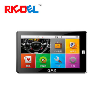 "Hot mini portable 5"" touch screen gps navigation system"
