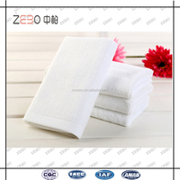 100% Cotton Plain Woven Fabric Pure White Cheap Hotel 21s Hand Towels