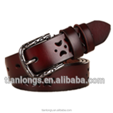 Hot Sale Pants Accessories Genuine Leather Belt With Belt Buckle