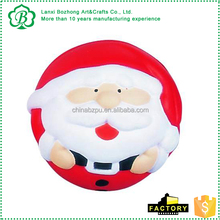 Lovely PU Santa Claus anti strress reliever People shape stress ball