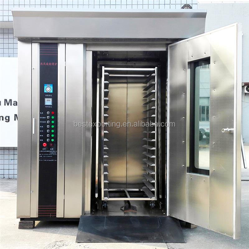 2016 popular 32 tray gas bread rotary bakery oven at the cheap price