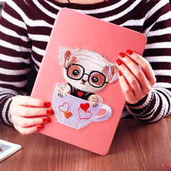 KAKU custom oem painted smart ultra slim silk texture flip stand pu leather case cover for ipad mini air 1 air 2