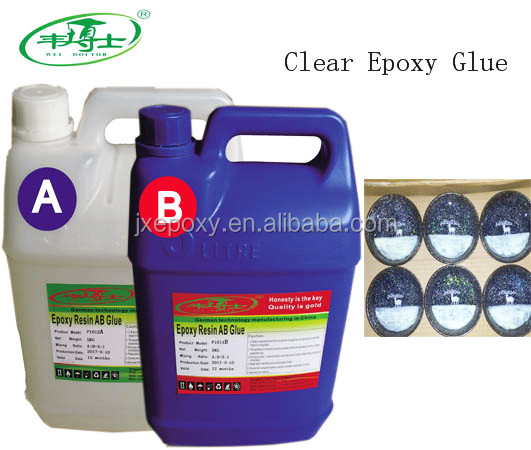 Hot Sale Factory Prices Hard Clear AB Epoxy Resin Glue For Doming Stickers, Graphics, Decorations