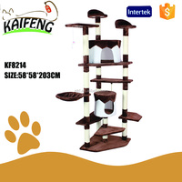 Manufacture OEM luxury cat tree furniture sisal scratcher Plush pet toys
