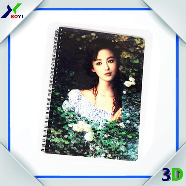 Composition Book Type And PET Lenticular Cover Material 3D Lenticular Notebook