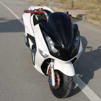 Hot sale new design cheap good quality 150cc automatic mobility big cruiser gas motor scooter motorcycle for EU market