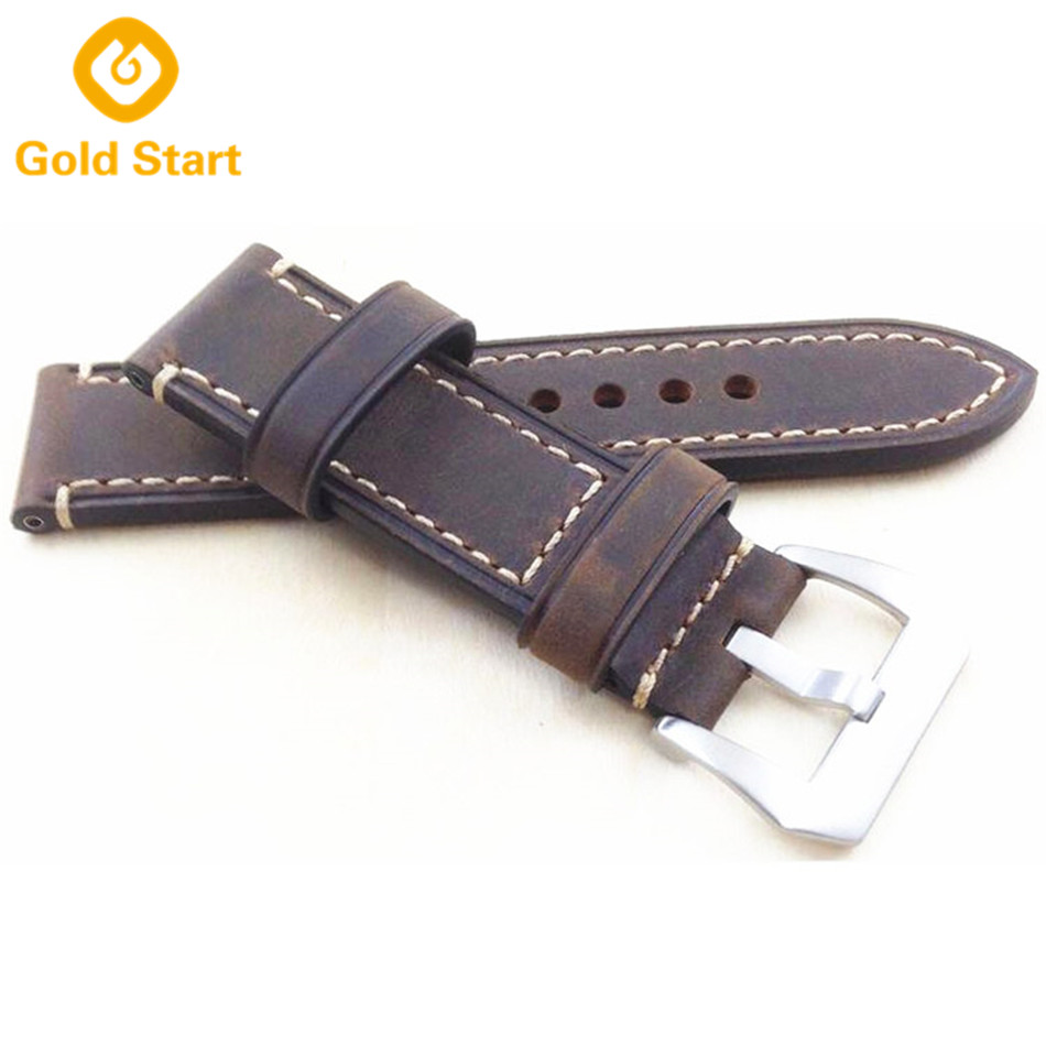 Distressed Leather Watch Strap Grey Leather Watch Band
