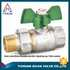 CE approved high quality level handle forged nickel plated BSP thread brass ball valve one way motorized ball valve