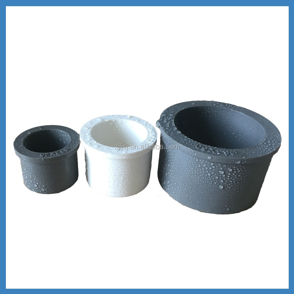 Mm upvc plastic pipe transition fitting bush reducer