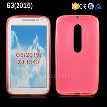 Factory price soft tpu phone case for motorola moto g3 2015 g 3rd gen xt1540 back cover
