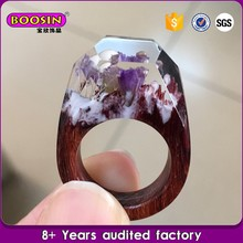 Natural Secret Resin Wood Ring Magic Smart Ring OEM Welcomed
