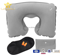 Airline travel neck pillow set with customized logo travel kit