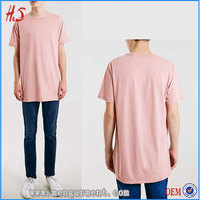 Best selling products wholesale mens clothing blank t-shirt men longline t shirt