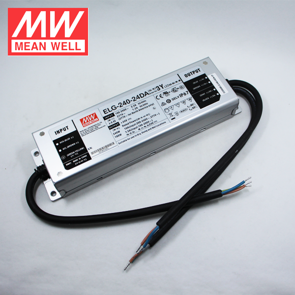 240W 24V LED Power Supply 10A Mean Well ELG-240-24DA DALI LED Driver Dimmable