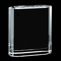 clear blank crystal model blank crystal trophy picture frame