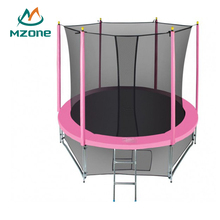 Mzone Cheap 305 cm 3.05m 10ft Pink Wholesale Garden Trampoline With Enclosure