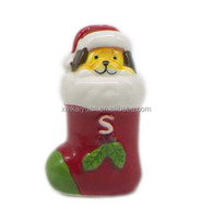 christmas dolomite salt&pepper shakers with hand-painting