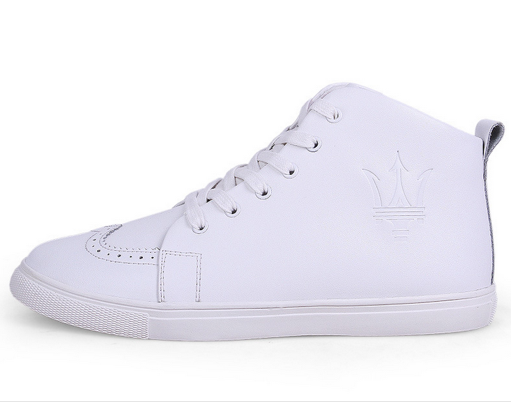 designer brand name sneakers white lovers shoes Genuine leather Lace Up sneakers ZH-L06
