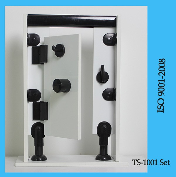 PP/PA Folding school toilet wood partition fitting set