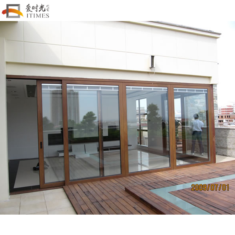 2018 new aluminium soundproof sliding door for balcony patio screen doors
