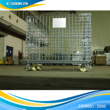 Foldable And Stackable Rolling Metal Storage Cage