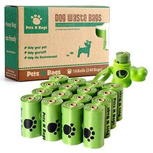 16 Rolls / 240 Count, Unscented Environment Friendly Compostable Dog Pet Poop Bags