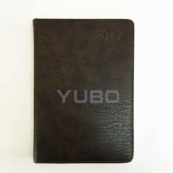 YB-1050 Calendar Diary, PU Cover Diaries, A5 Diary Cover handmade leather a5 notebook with pen holdr