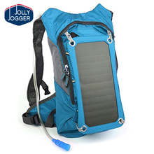 Hydration Solar Backpack 7 Watts Solar Panel Charger with 2L Bladder Bag For Biking Charging Mobile Phones, Tablets
