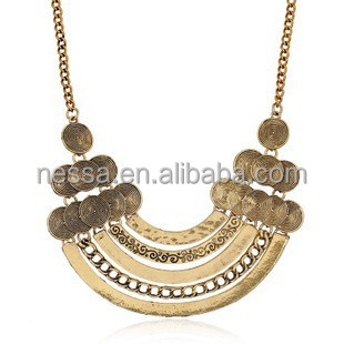 High quality fashion necklace 22k gold jewellery dubai NSNK-25769