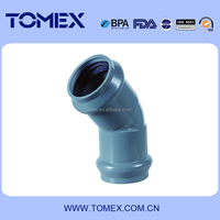 good quality pvc rubber elbow/22.5,45,90 degree elbow for pvc rubber fittings