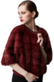 Ladies Short Mink Fur Coat Luxury Shiraz Color