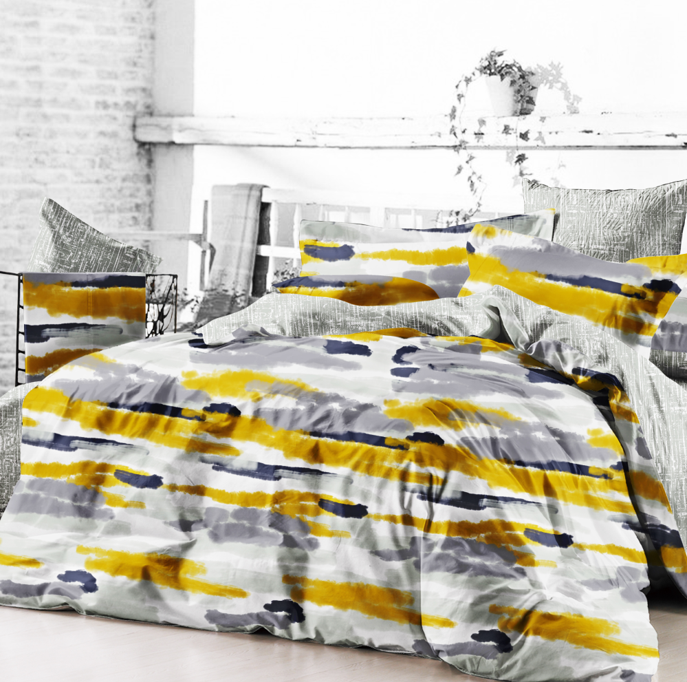 American style and 100% Cotton Material reactive print bedding set