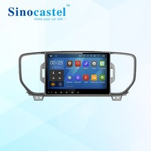 Sinocastel new 9 inch Touch screen android 5.1.1 car dvd player car radio gps navigation system for Sportage 2016