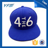 acrylic wool 6 panel 3d embroidery blue snapback hats