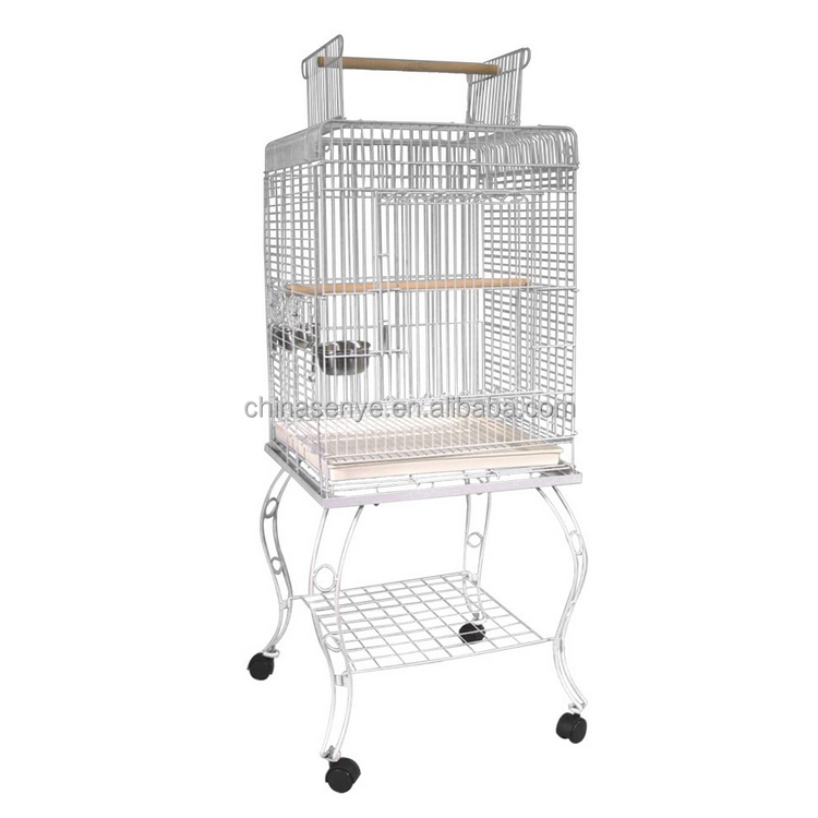 Parrot Bird Cage Large Metal Bird Cage With Wheels