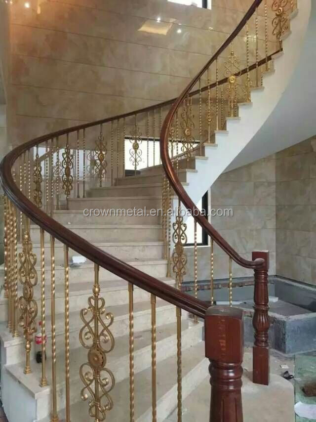 Indoor wrought iron spiral staircase for villa decoration