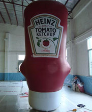 NEW Products Inflatable Ketchup Bottle For Advertising