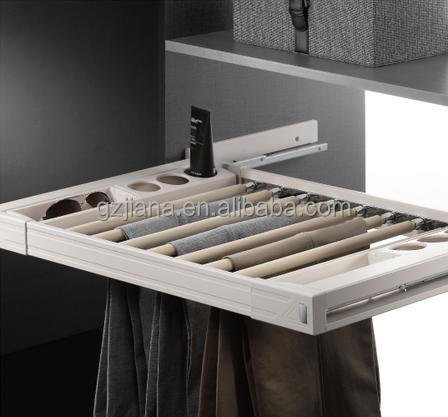 2015 hot selling wardrobe trouser rack with soft close