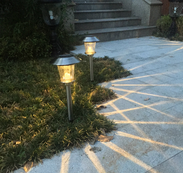 New Version Stainless Steel Solar Garden Light Outdoor Solar Stake Light