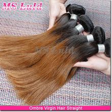 Delivery within 24 hours 100% Raw Virgin ombre colored two tone Straight zury hair